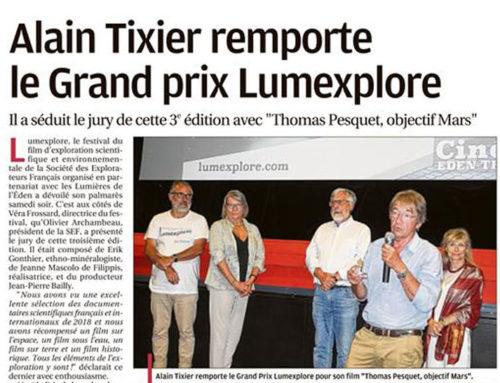 Alain TIXIER remporte le Grand Prix LUMEXPLORE 2018
