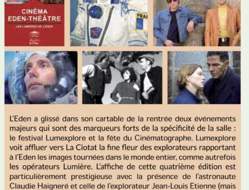Le mot du Président, Cinéma Eden Théâtre, septembre 2019