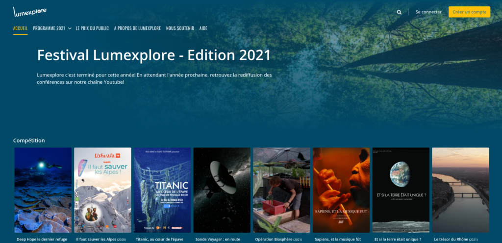 Plateforme Streaming Lumexplore 2021